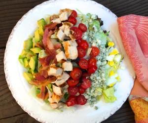a plate of Cobb salad