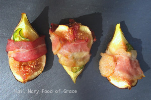 Figs, bacon, and jalapeno