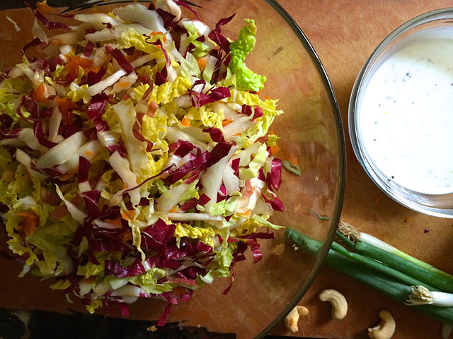 Napa Cabbage Cashew Coleslaw