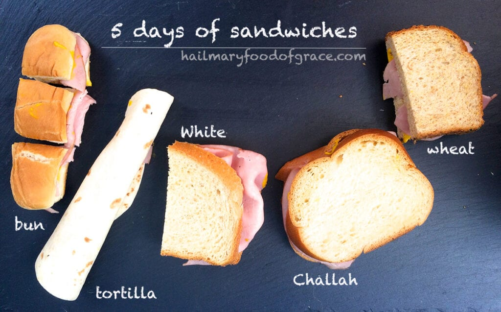 different breads for sandwiches