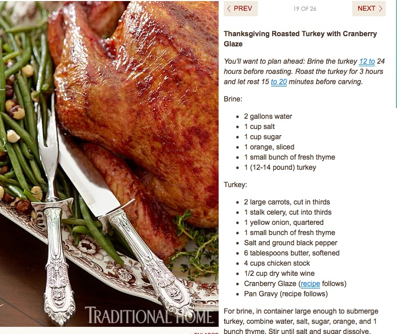 a recipe for a thanksgiving roasted turkey with cranberry glaze