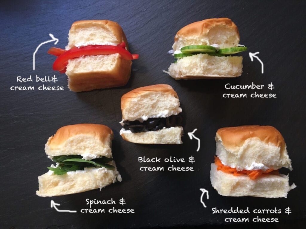 sandwiches with different vegetables