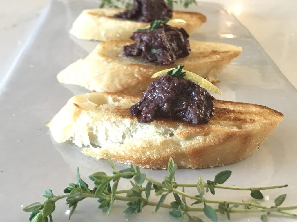 Olive and thyme tapenade