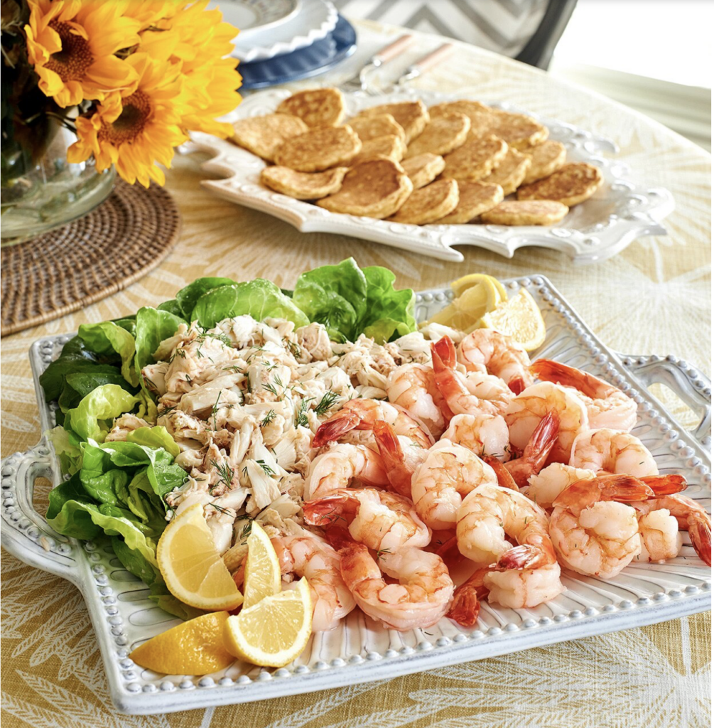 Shrimp-and-Crab Louie on a platter