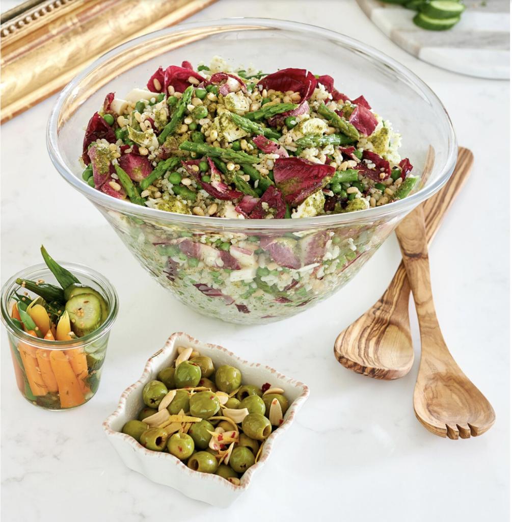 a bowl of Pesto Rice Salad