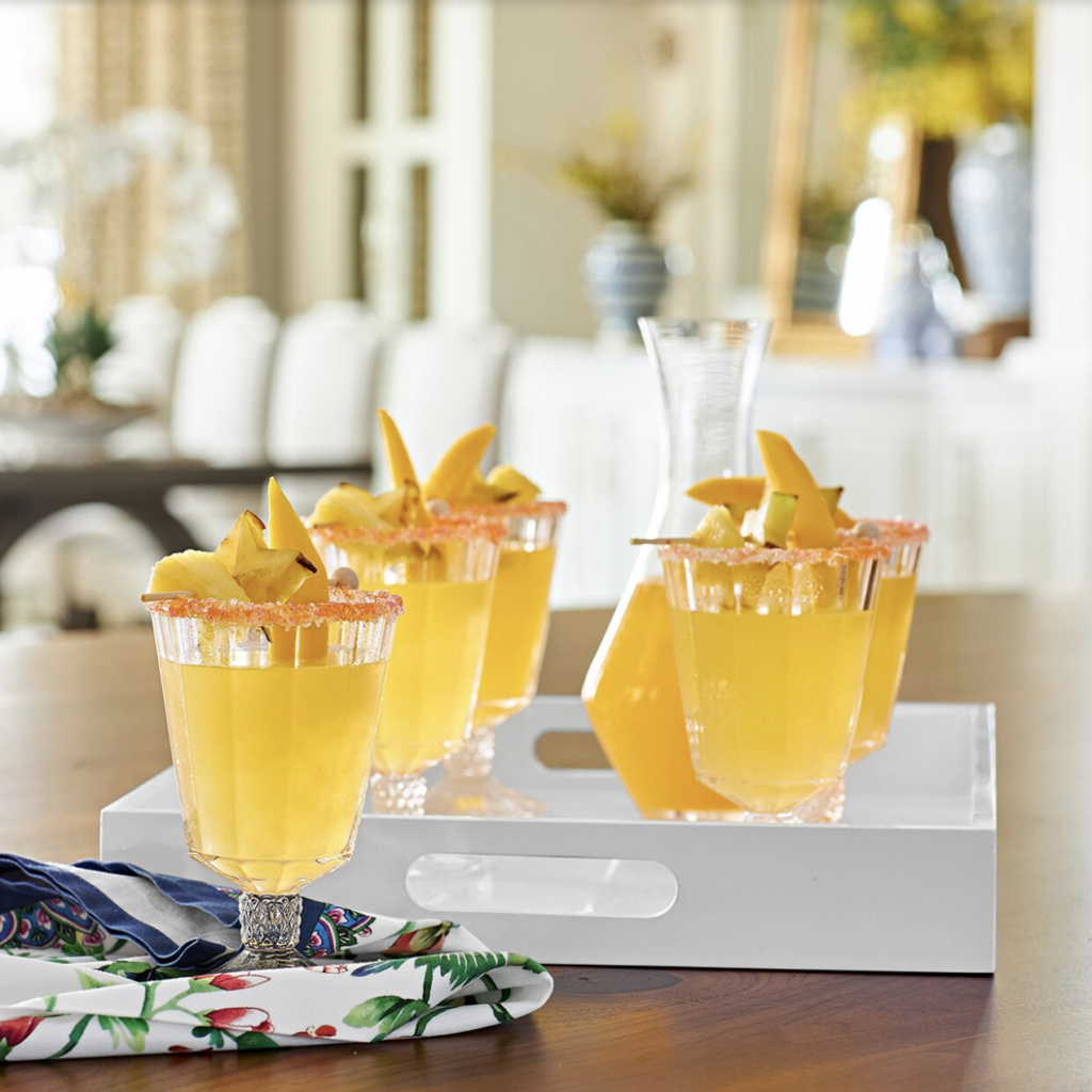 a tray of Tropical Fruit Martini